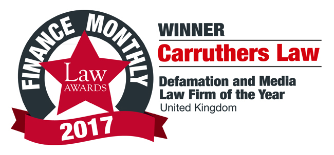 Law Awards - Defamation and Media Law Firm of the year 2017