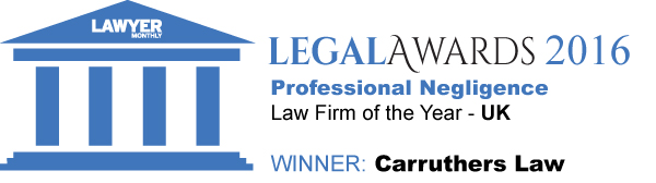 Lawyer monthly legal awards 2015 winner - Professional negligence law firm of the year